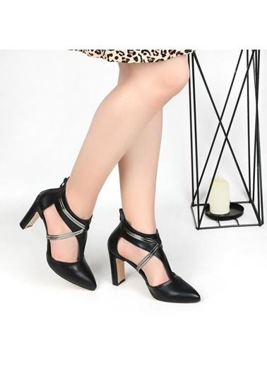 Pandora Cc302 9 Cm Topuklu Bayan Abiye Stiletto Ayakkabı Vizon